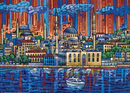 Istanbul painting by Anastasia Mak