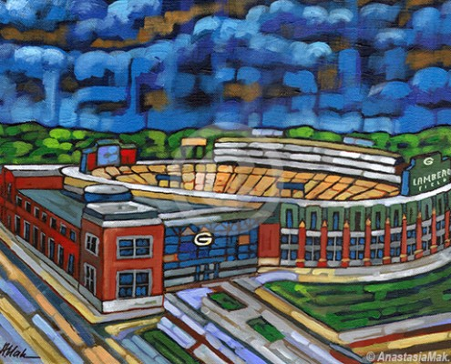 Lambeau Field painting
