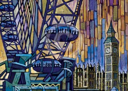 London Eye painting