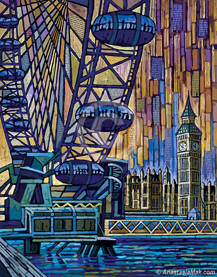 London Eye painting