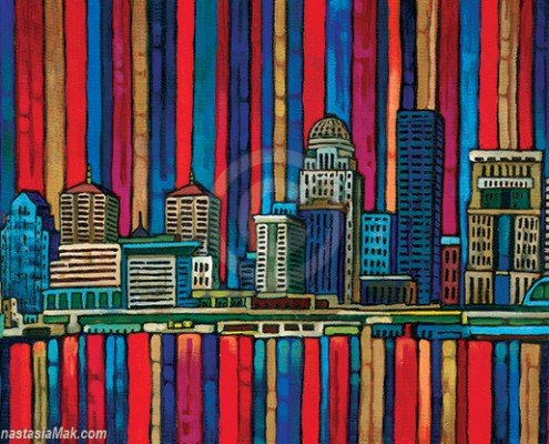 Louisville Skyline painting