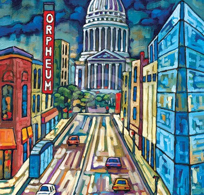 Madison state street painting