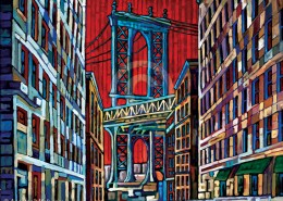 Manhattan Bridge painting