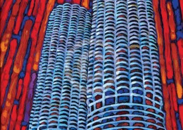 Marina Towers painting