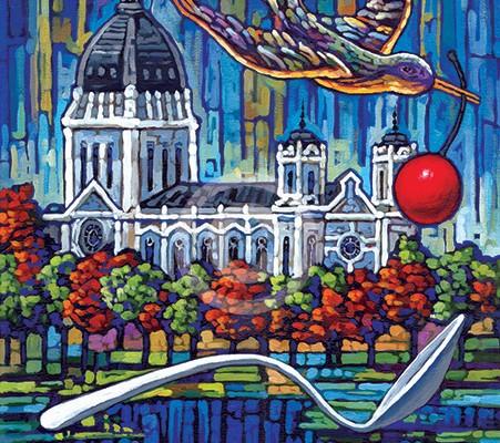Minneapolis Spoon Bridge painting
