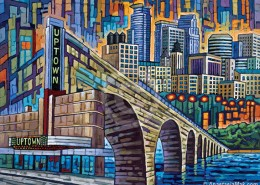 Minneapolis Uptown painting