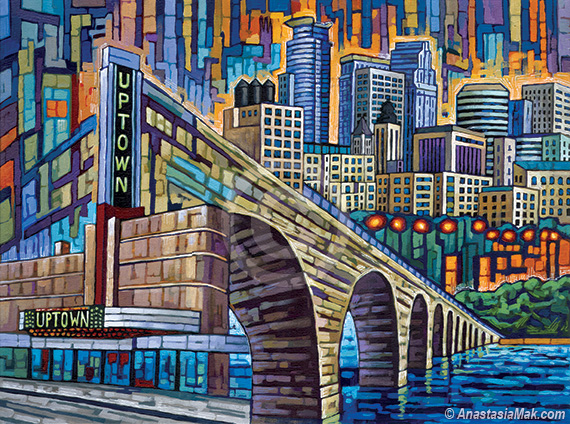 Minneapolis uptown painting minneapolis medley by for Painting with a twist arizona