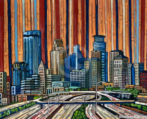 Minneapolis Skyline painting