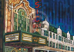 Music Box Theater painting