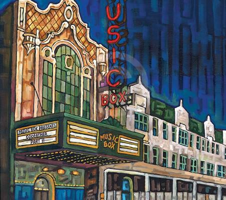 Music Box Theater painting