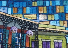 DETAIL: New Orleans Quilt painting