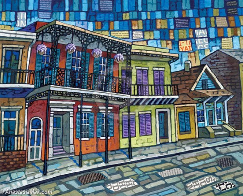 New Orleans Quilt painting by Anastasia Mak