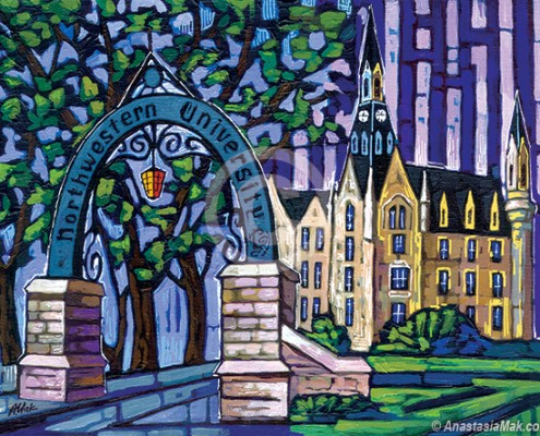 Northwestern University painting
