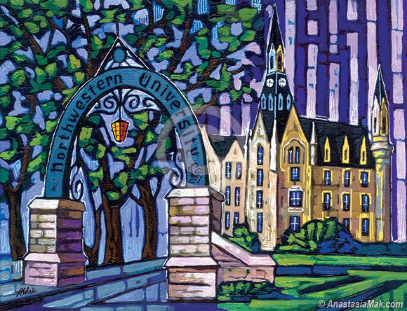 Northwestern University painting