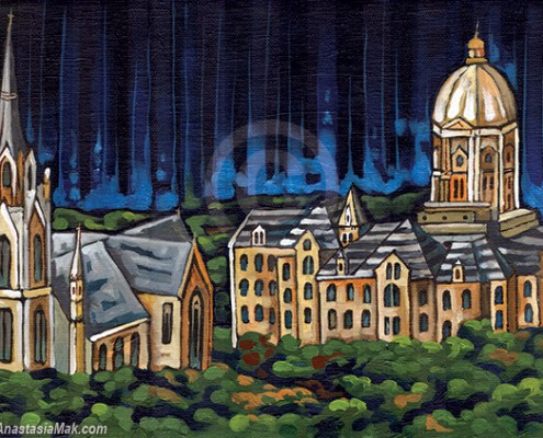 Notre Dame University painting