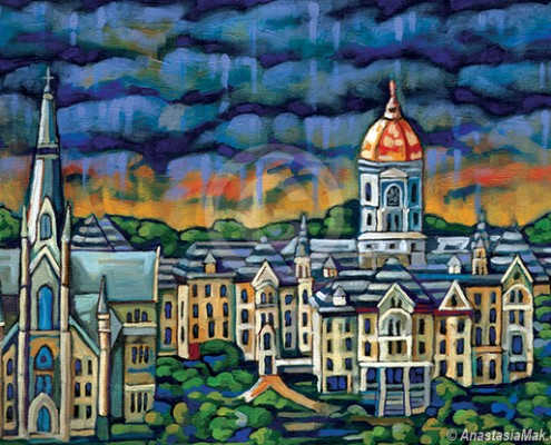 University of Notre Dame painting