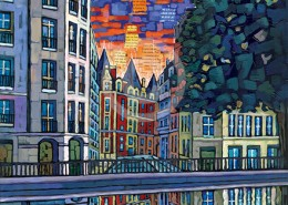 Paris Canal painting