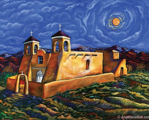 Ranchos de Taos painting