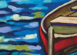 DETAIL: Red Boats painting