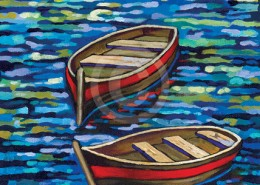 Red Boats painting