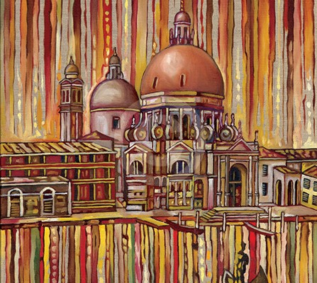 Red Venice painting
