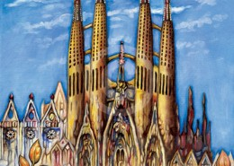 Sagrada Familia painting
