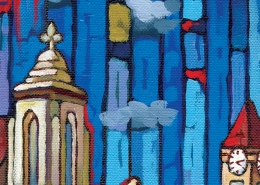 DETAIL: Sample Gates painting