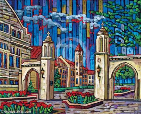 Sample Gates painting