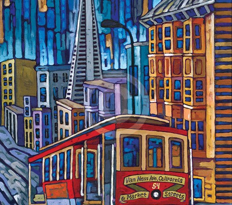 San Francisco Cable Car painting