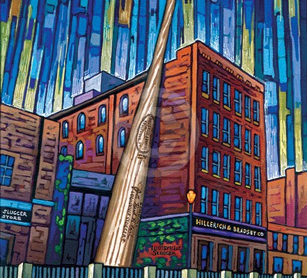 Louisville Slugger painting