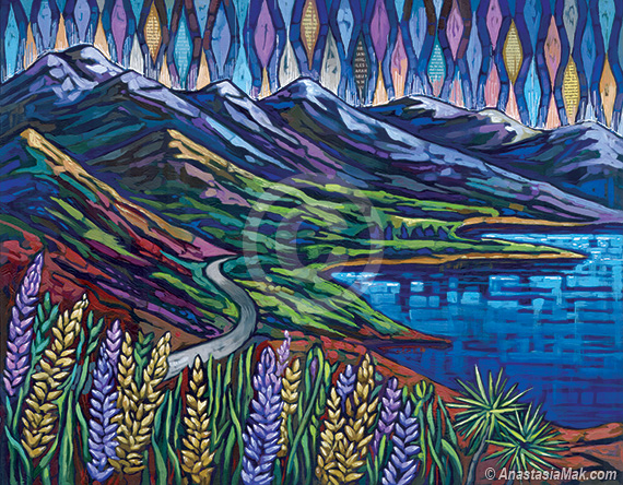 South Island painting