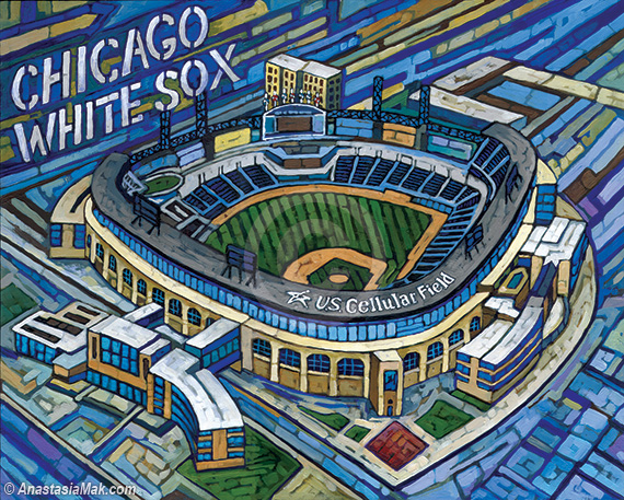 US Cellular field painting