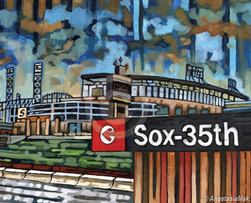 white sox el stop painting