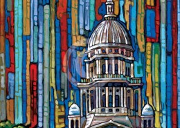 Illinois State Capitol painting