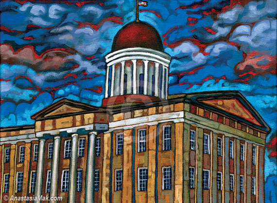 Springfield Old Capitol painting