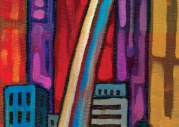 DETAIL: St Louis Skyline painting