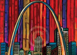 st louis arch painting