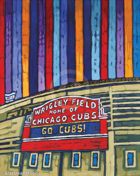 Wrigley Field Marquee painting