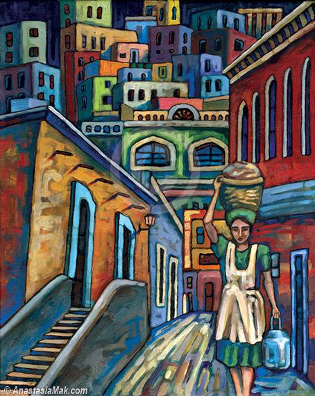 sunny pueblo painting