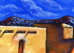 DETAIL: Ranchos de Taos painting