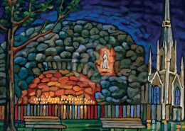 the Grotto Notre Dame painting