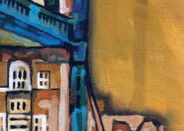 DETAIL: Tower Bridge painting