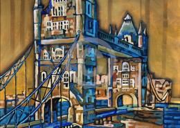 Tower bridge painting