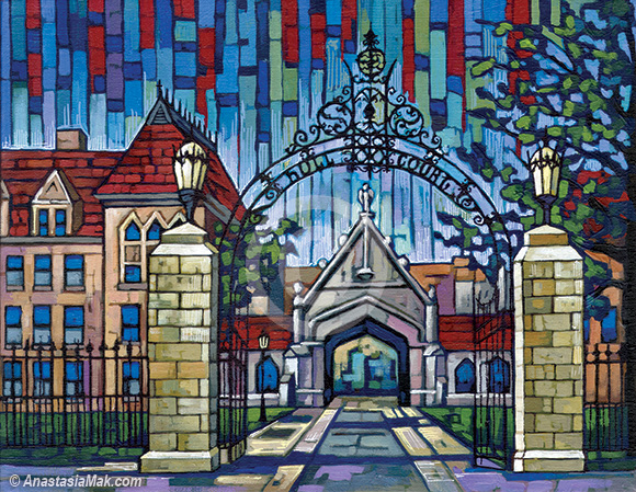 University of Chicago painting