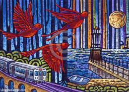 Urban Flight painting
