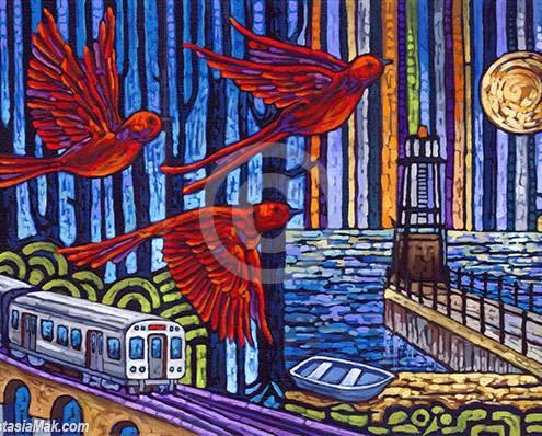 Urban Flight painting