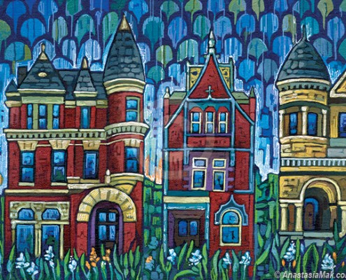 Victorian Homes painting