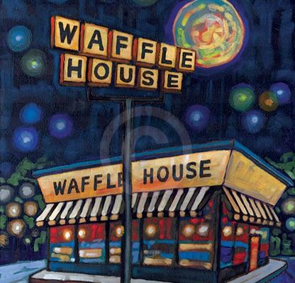 Waffle House painting