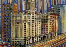 Wrigley Building painting