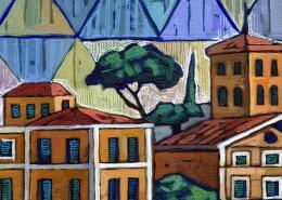 DETAIL: Ponte di Roma painting